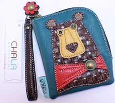 Chala Zip Around Wallet Turquoise Bear >>> Check out the image by visiting the link.