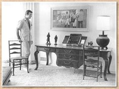 George Montgomery Shows Off A Queen Anne Desk He Made In 1968. He Later  Donated