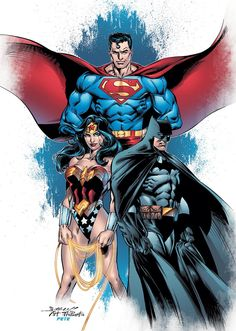 Superman, Batman & Wonder Woman.