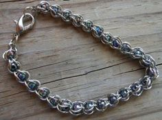 Chainmaille Bracelet with Rainbow Beads | craftingmemories - Jewelry on ArtFire by Viki 64