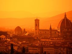Florence, Italy - a beautiful city filled with some of the world's greatest art and architecture, surrounded by the beautiful Tuscan countryside.