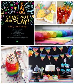 Rainbow Birthday Party Inspiration Board