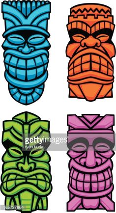 Tiki Faces, Tiki Tattoo, Tiki Head, Tiki Statues, Tiki Bar Decor, Tiki Totem, Hawaiian Tiki, Tiki Mask, Tiki Party