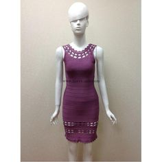Herve Leger Purple Sleeveless Sexy Bandage Dress H585LSAP