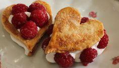 Valentines dessert. Postre para San Valentín