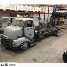 with ・・・ feature on your source Cool build going on at… Truck Ramps, Truck Flatbeds, New Trucks, Custom Trucks, Cool Trucks, Welding Trucks, Pick Up, Classic Pickup Trucks, Lowered Trucks