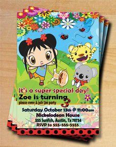 Nickelodeon Ni Hao Kai Lan - Personalized Birthday Party Invitation. $12.99, via Etsy.