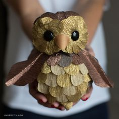 Foam and Crepe Paper Owl