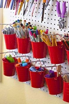 Bucket Organizing decoration storage crafts organize organization organizer organizing organization ideas being organized organization images storage ideas organization idea pictures buckets craft room