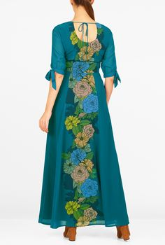 colorblock floral dress from eshakti: Women's Fashion Clothing 0-36W and Custom