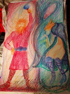 Thor & Loki Contrast Drawing