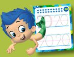 Bubble Guppies Numbers Tracing
