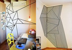 Qua tal decorar a sua casa com fita isolante? O material traz mais vida para…