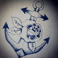 Anchor and rose
