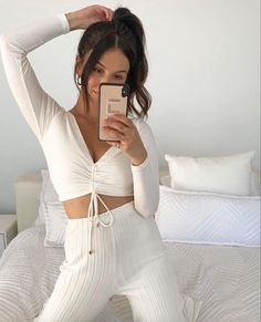 Beautiful Morning, Significant Other, Comfortable Outfits, Warm And Cozy, Lounge Wear, White Jeans, How To Wear, Clothes, Bathroom