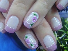 Find images and videos about nails, nailart and creations on We Heart It - the app to get lost in what you love. Nailart, Nail Patterns, Nail Art Hacks, Flower Nails, Nail Tips, Pedicure, Pattern Design, Nail Designs, Pretty