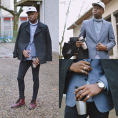 Get this look: http://lb.nu/look/6961478  More looks by Marc-Henri Ngandu: http://lb.nu/marc_henri_ngandu  Items in this look:  New Look Trench, H&M Skinny Jeans, New Yorker  Boots, Bizzbee 5 Panels, New Look Pull Over   #casual #classic #vintage #mhnkd #fashion #menswear #menchic #chic #ootd