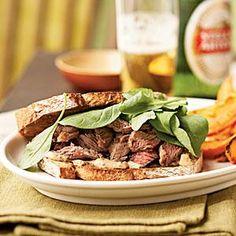 Steak Sandwiches with Worcestershire Mayonnaise Recipe | MyRecipes.com