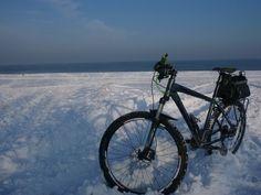 Plaża w Sobieszewie zimą ... Pusto tam jakoś...