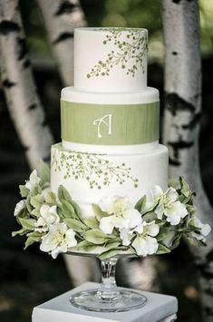 Gorgeous Green Wedding Cakes To Make A Statement