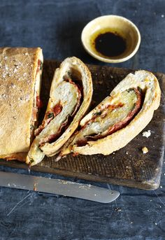 Cheesy, swirly stromboli has us hypnotised! A great change-up from pizza for a party.