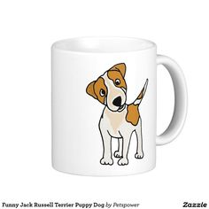 Funny Jack Russell Terrier Puppy Dog Classic White Coffee Mug