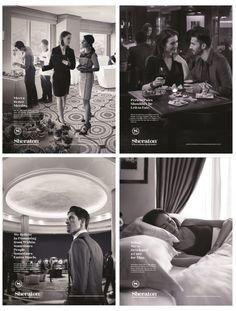Sheraton Hotels & Resorts Hotel Advertisement, Hotel Ads, Real Estate Advertising, Real Estate Ads, Advertising Campaign, Marketing And Advertising, Spa Logo, Hotel Branding, Graphic Design Trends