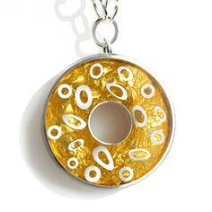 Necklace $164 sterling silver, gold leaf