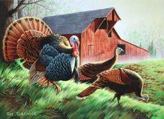 Tim Turenne Original 2010 Minnesota Turkey Stamp Winner turkey painting