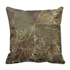 Throw Pillow - Feather Scroll Design