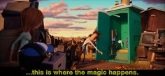 Cloudy with a chance of meatballs- this part gets me every time!