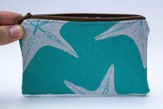 Handmade Custom Zipper Pouch cosmetic bag coin by FormerlyFlints
