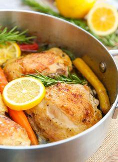Lemon Garlic Chicken | Kirbie's Cravings | A San Diego food blog
