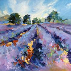 Lavender Blues Painting