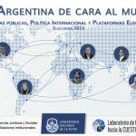 """""""Argentina de cara al mundo"""", informe elecciones 2015. De cara al proceso electoral publicamos informe académico con la agenda internacional de los candidatos."""