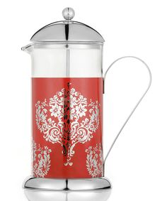 La Cafetière Red Damask 8-Cup French Press For the coffee lover