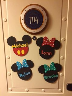 Disney Cruise Line Door Magnet // Mouse by Mickeydesignsbybeth