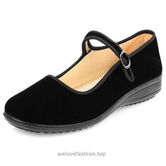Shiaili Velvet Walk Comfort Mary Jane Flats Shoes (8)  BUY NOW     $17.31    This mary jane doll shoes is simple but cute,easy to pair every outfit,comfort your foot for work,casual wear,dance,or walking.  The sole is make of soft rubber mate ..