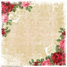 fondo vintage flores (700x700, 710Kb)