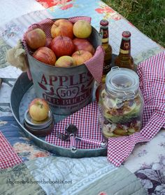 Apple-Walnut Salad in a jar by Mary (Home Is Where the Boat Is).