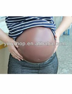 Brown 2000G 6~7 Months Fake Silicone  Pregnancy Belly  False  Silicone Pregnancy Baby Bump  Jelly Belly  For Fake Pregnancy