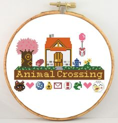 Animal Crossing home original design cross stitch by KpopStitches, $5.00