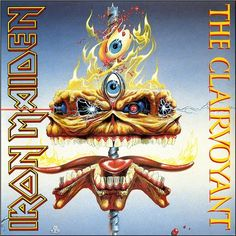 """Iron Maiden - The Clairvoyant (Live) on Limited Edition 7"""" Vinyl"""
