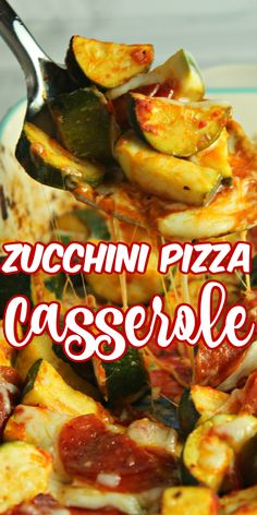 Zucchini Pizza Casserole is a delicious zucchini recipe that is perfect for a family meal. It makes a wonderful side dish, entree or for a potluck dinner. Zuchinni Pizza, Zucchini, Pizza Casserole, Casserole Recipes, Pizza Sides, Pizza Side Dishes, Vegetarian Recipes, Healthy Recipes, Vegetable Recipes