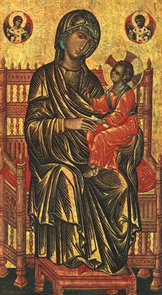 Enthroned Madonna and Child (13th Century) by Byzantine Unknown Master