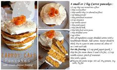 carrot cake pancakes !  recipe !  #healthy #diet #delicious #healthylifestyle #eatclean #cleaneating #fit #cleancook