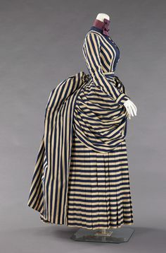 Dress 1885–88, American. Cotton & silk. It gradually became more acceptable for women to participate in sporting activities throughout the second half of the 19th century. Clothing requirements for...