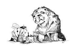 Tough game. Illustration