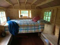 Daphne's Caravans: Magical Gypsy Caravans, guest spaces or retreats Tiny Camper Trailer, Camping Trailer Diy, Homemade Camper, Diy Camper, Camper Ideas, Gypsy Wagon, Gypsy Caravan, Bathtub Remodel, Diy Home Repair