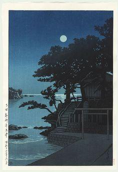 Kawase Hasui détail - Sanctuaire de Kakizaki Bentendo, Shimoda 1937
